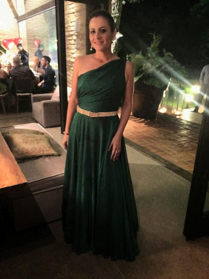 Vestido de festa casamento verde