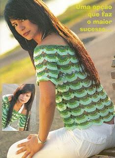 como hacer una blusa tejida