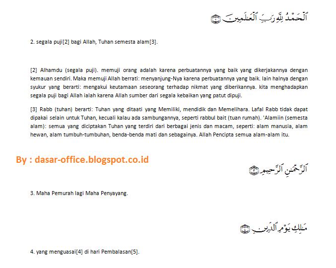 Cara Mudah Memasukan Ayat Al Quran ke dalam Ms Word 2007, 2010, 2013