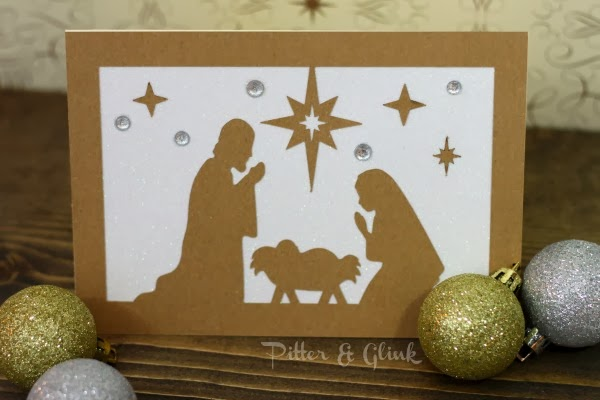 DIY Nativity Silhouette Christmas Card from Pitter and Glink and 35 inspirational Silhouette projects from other talented bloggers!  http://www.Pitterandglink.blogspot.com