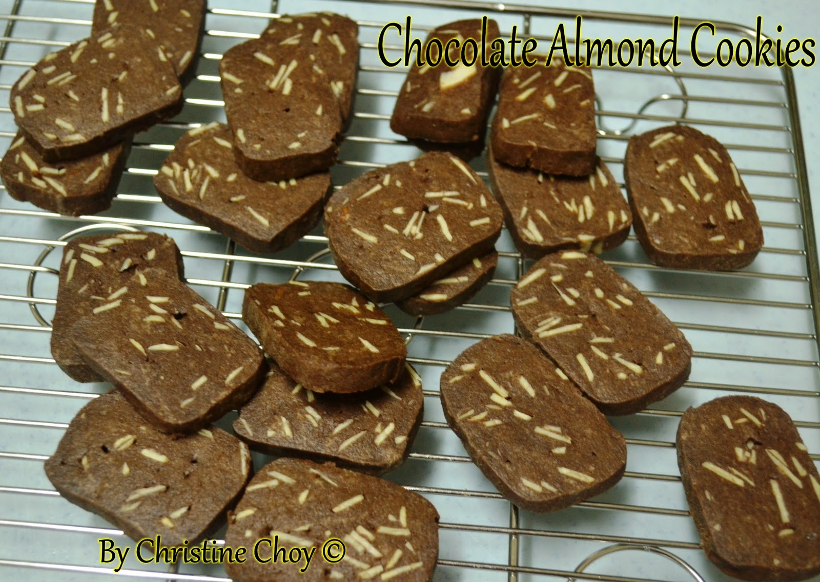 Food@Home Sweet Home: Chocolate Almond Cookies