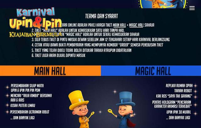 Program di Main Hall dan Magic Hall
