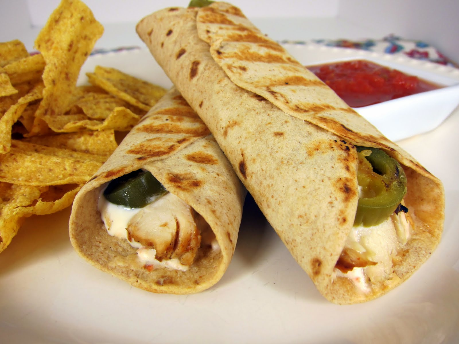Chicken Popper Wrap - chicken, cream cheese and jalapeños wrapped in ...