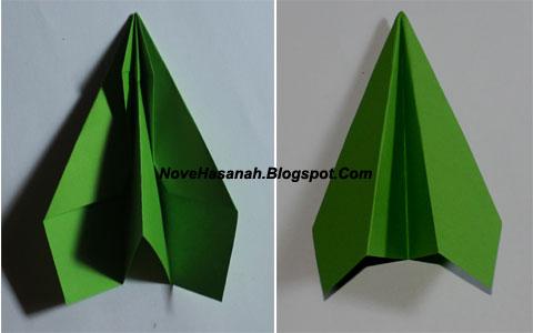 cara membuat origami untuk pemula bentuk pesawat terbang yang mudah