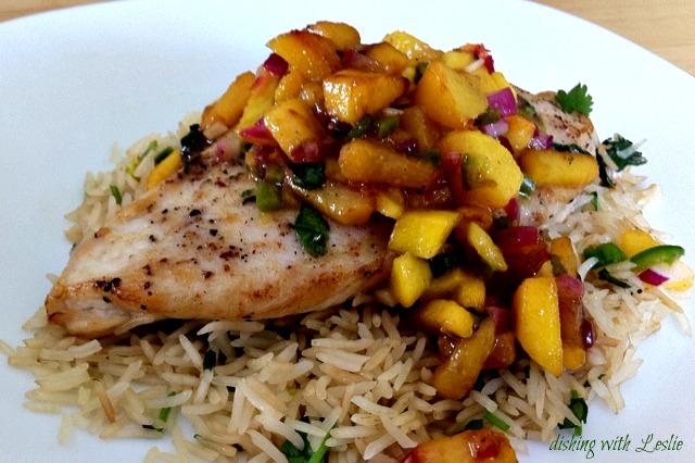 Coriander Chicken With Mango Salsa Recipe — Dishmaps