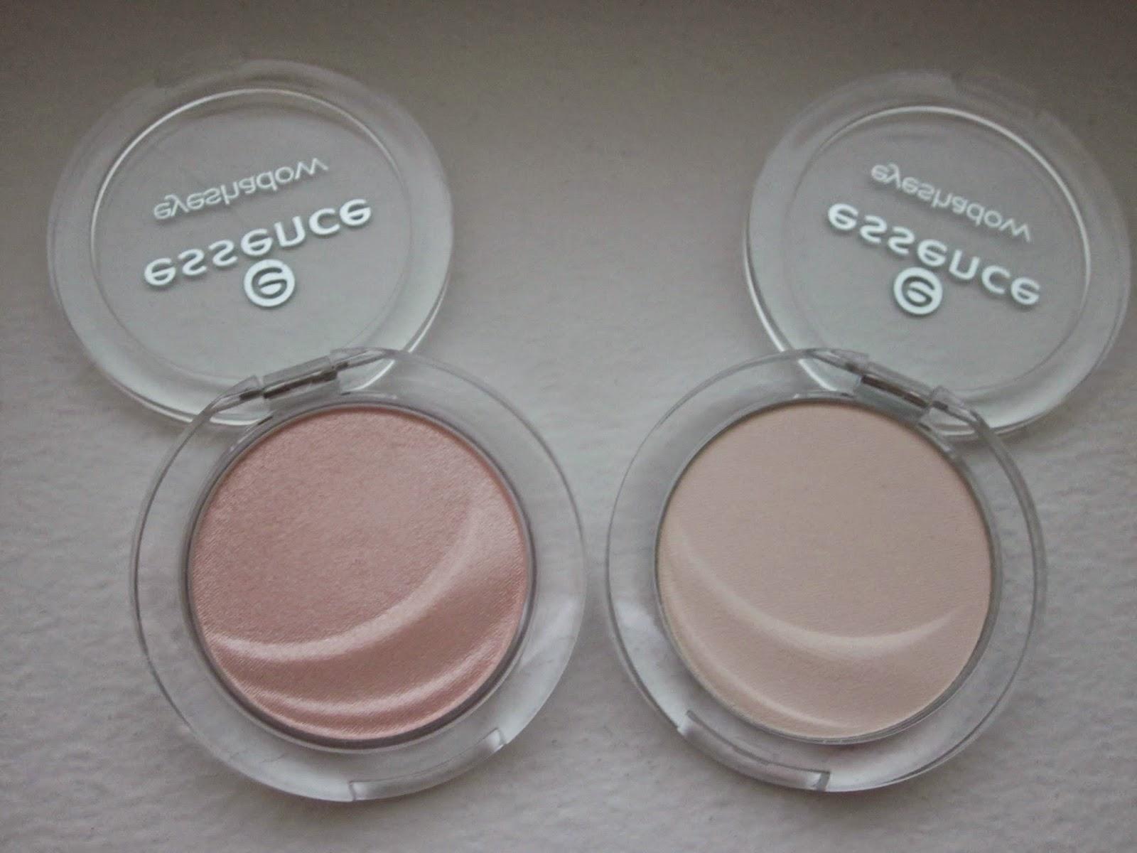 Essence, cosmetics Mono Eyeshadows in Snowflake, Rosie Essence 08 Far/Aydnlatc Görkem Karman Abat