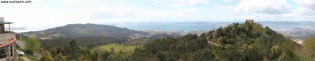 Vista panorámica de la ría de Vigo