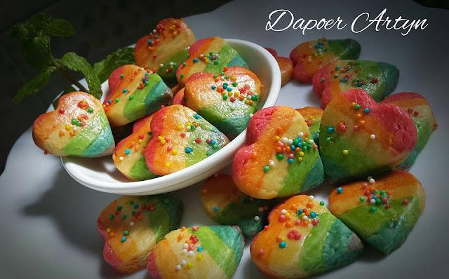 Resep Rainbow Heart Cookies Yang Enak dan Lembut