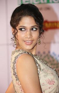 Actress Lavanya Tripathi Latest Pictures in Long Dress at Memu Saitam Dinner with Stars Red Carpet 1