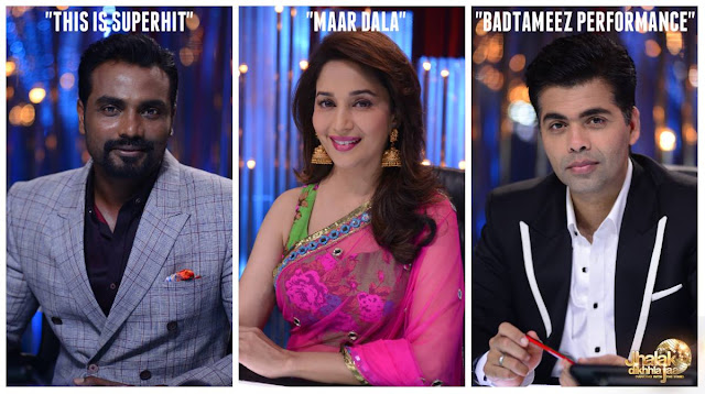 Jhalak Dikhhla Jaa Judges Madhuri Dixit, Remo D Souza and karan Johar