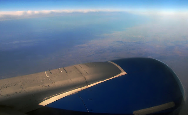 за окном самолета