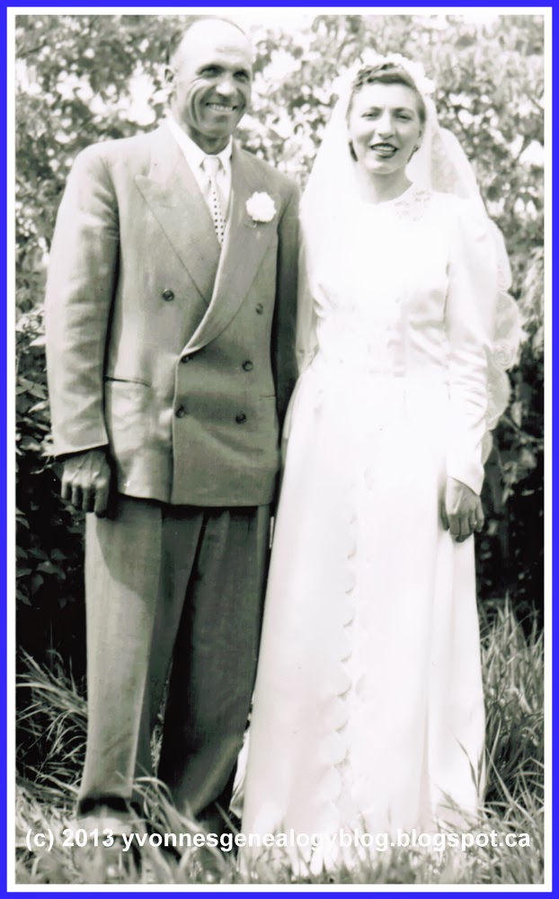 Bill and Ann Demoskoff on their wedding day in June 1952