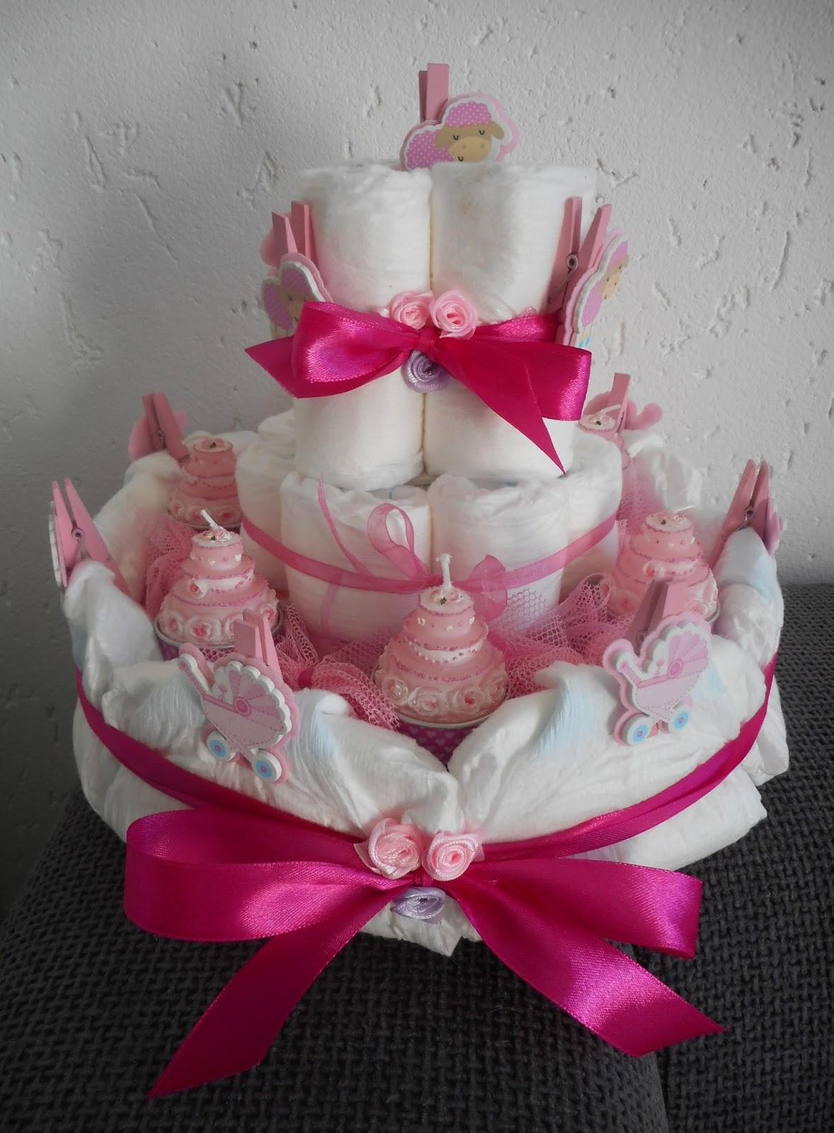 Atelier 39 de kleine haven 39 diy luiertaart diaper cake - Bed voor een klein meisje ...