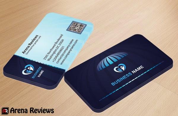 Blue Corporate Business Card PSD Template