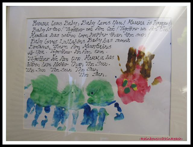 photo of: Eric Carle-like Painted Handprints for Mother's Day via Eric Carle RoundUP at RainbowsWithinReach