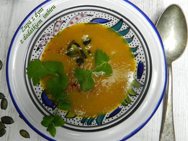 Zupa z dyni z dodatkiem  imbiru