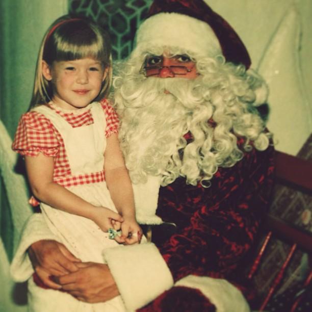 me with santa circa 1980
