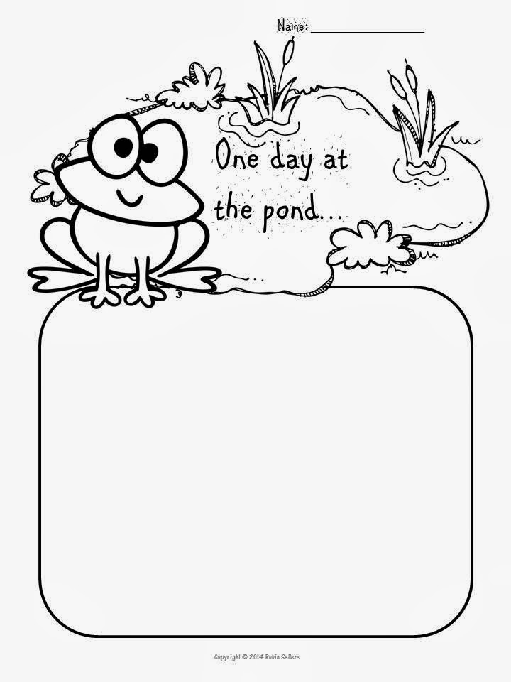 frog writing prompt printable