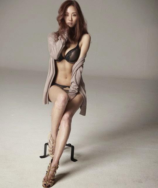 G na poses in lingerie for nylon magazine daily pop news