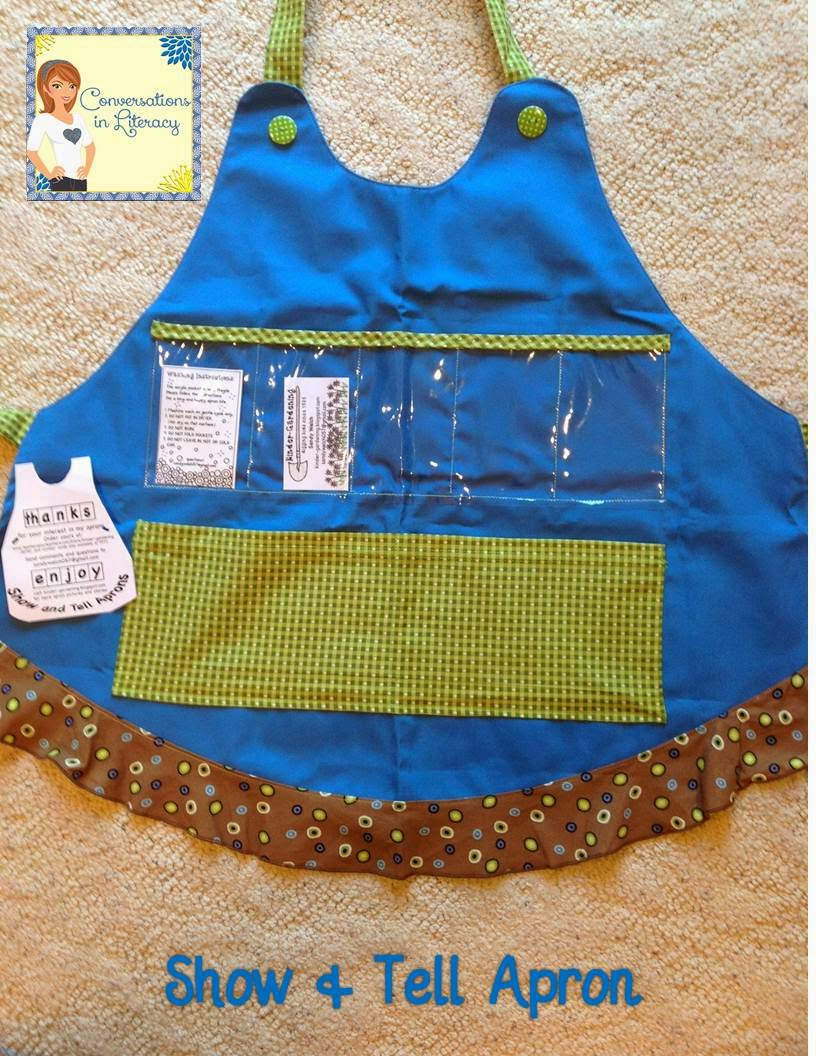 Use letter and Number cards in the apron