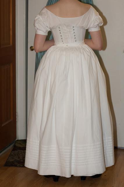 tucked petticoat back