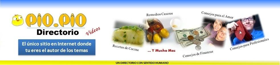 PioPio Directorio, Recetas, salud, dietas, remedios caseros, amor y economía