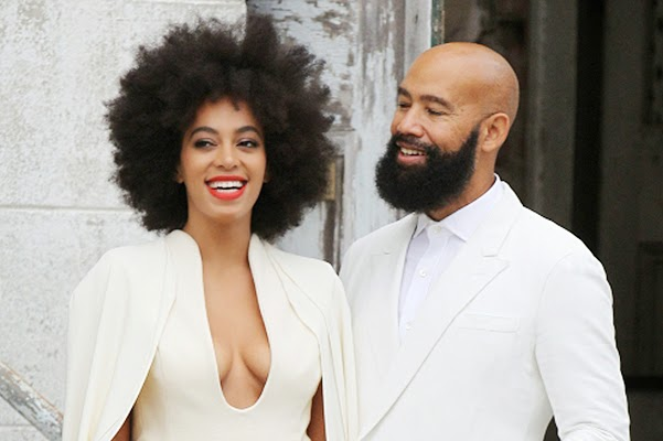White wedding: Solange Knowles and Alan Ferguson married