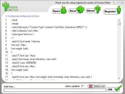 Cactus Editor , HTML Editors , Web Authoring Tools , Website Builder , freewares, windows softwares,