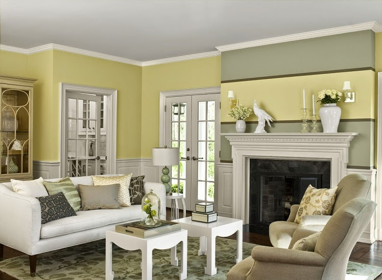 great living room paint colors with white - Great Living Room Paint Colors