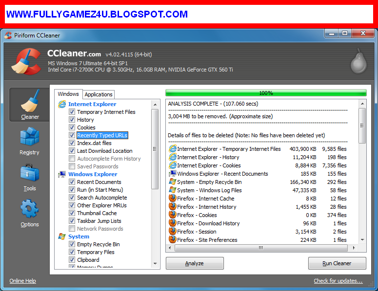 Download Ccleaner 4.11.4619 Latest Version Free Download