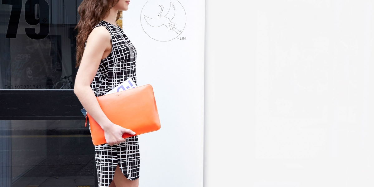 Womens Laptop Sleeve in Tomato by Knomo