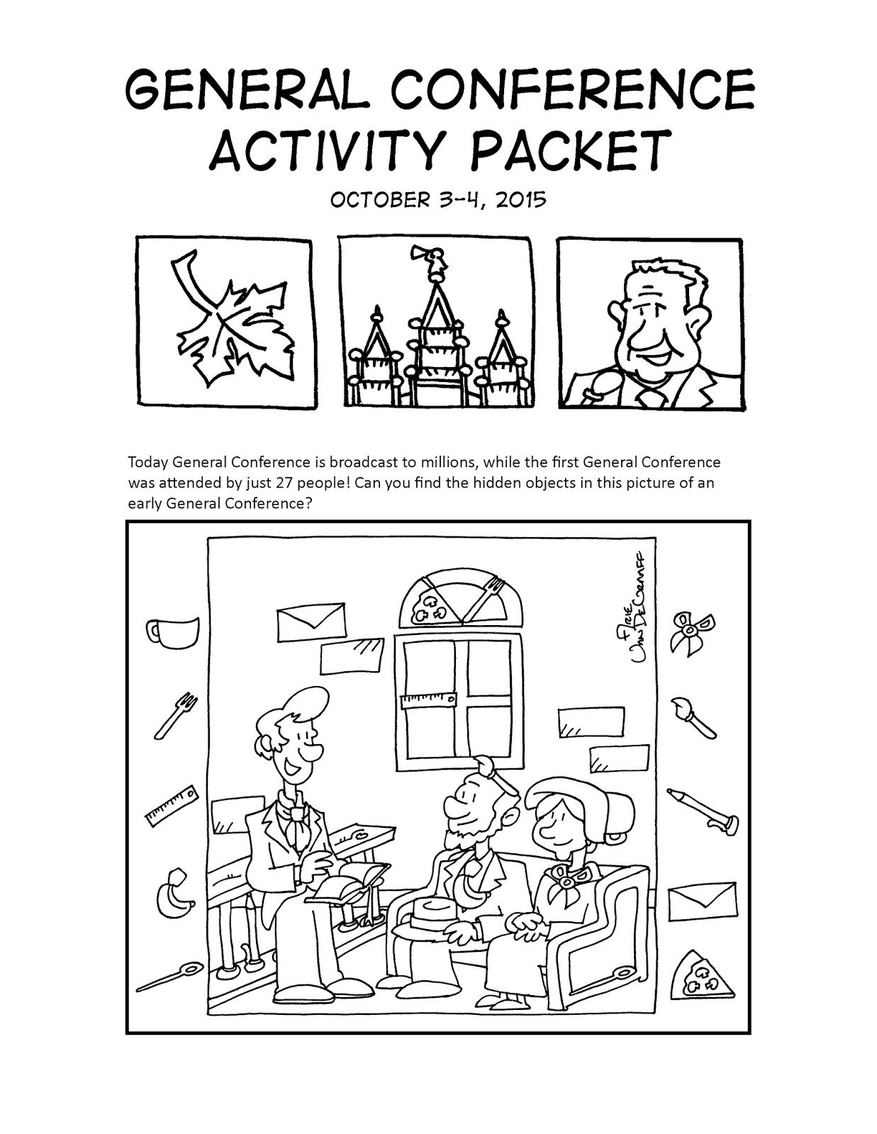 Ward Cartoonist Your October 2015 General Conference Activity Packet