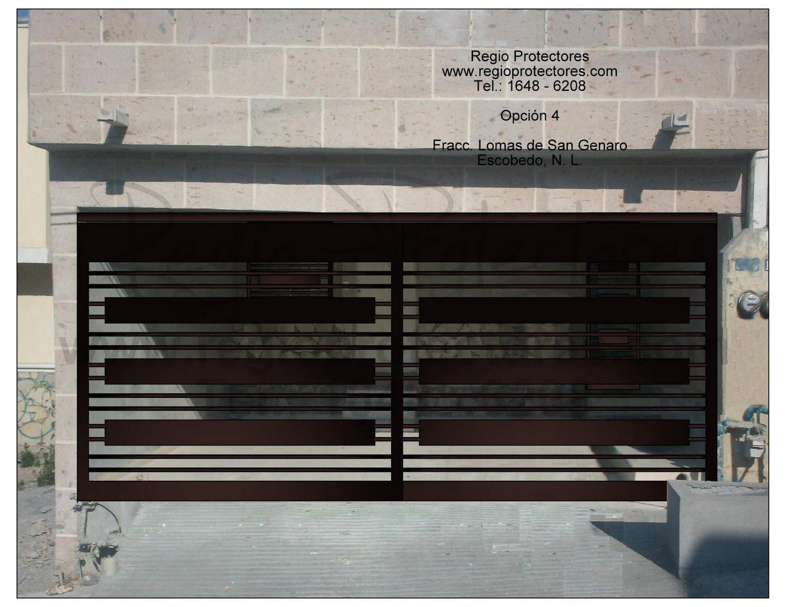 Protectores para ventanas, Puertas principales, Portones y barandales