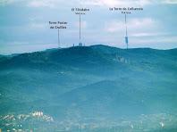 El Tibidabo i la Torre de Collserola des del Mirador de la Punta
