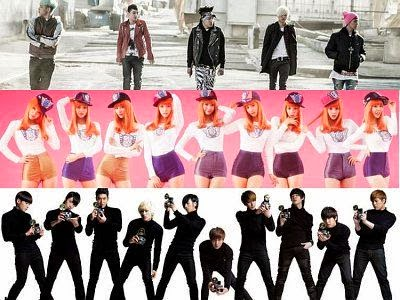 Big Bang, SNSD, Super Junior
