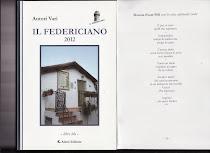 """""""IL FEDERICIANO """"  2012 libro blu-  nell'Antologia A.V."""