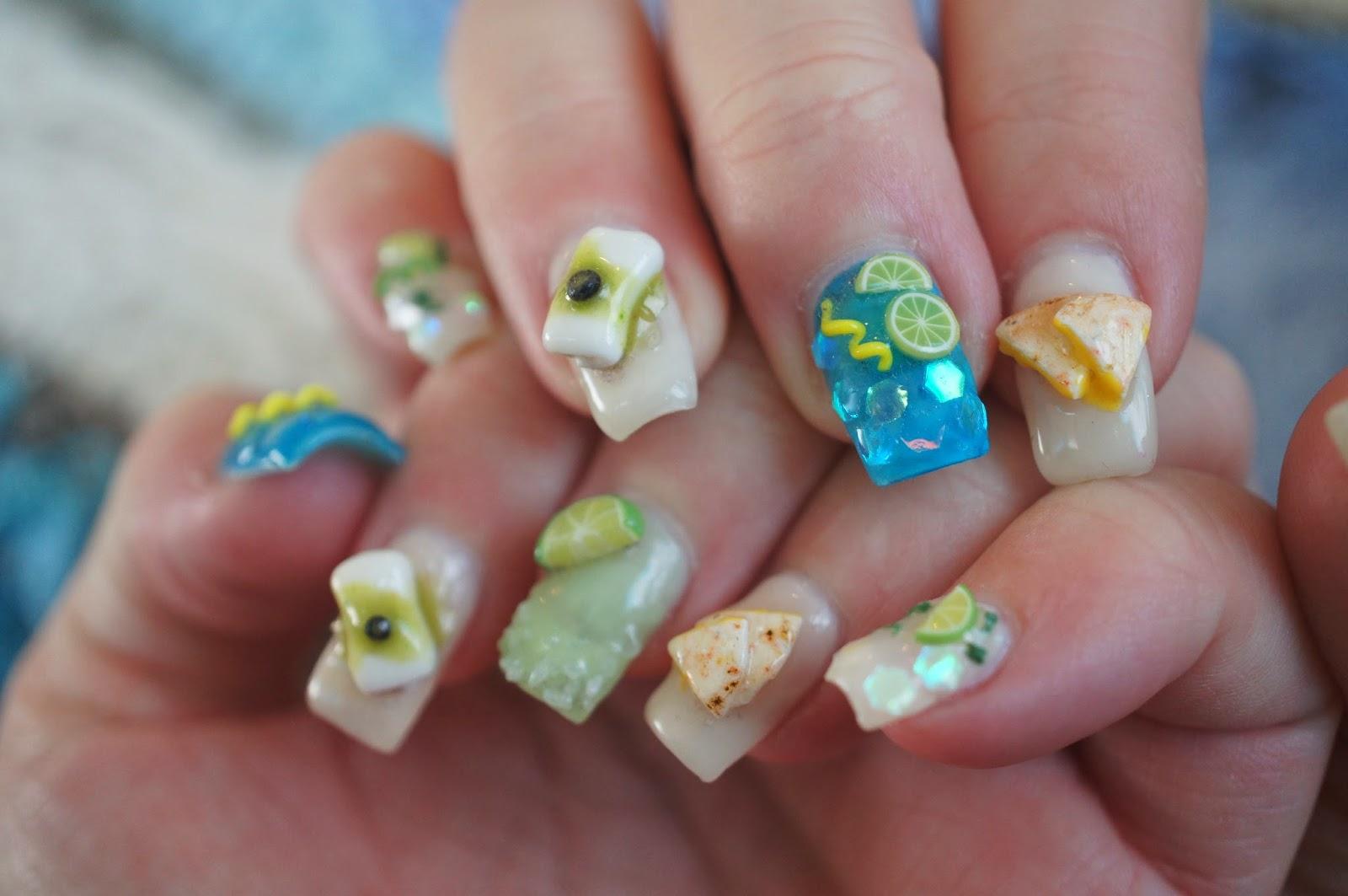 Sweet savory trinkets tropical polymer clay nail art tropical polymer clay nail art prinsesfo Choice Image