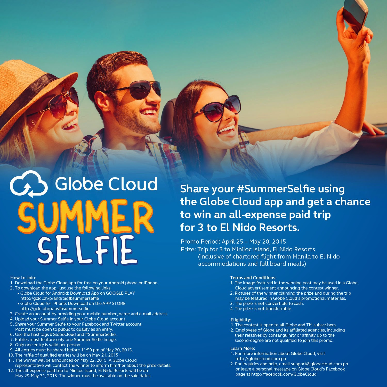 Globe Cloud Summer Selfie