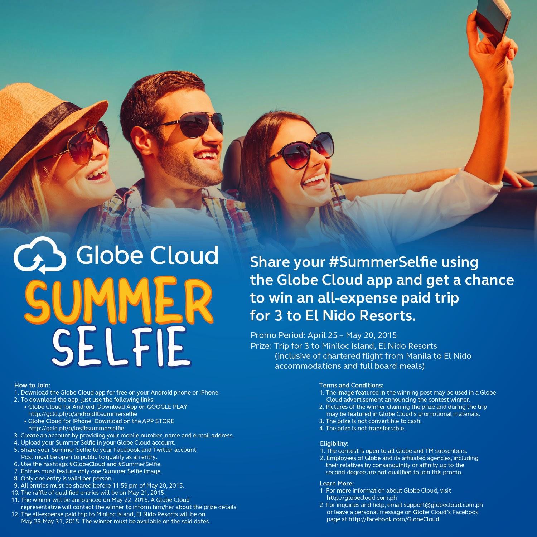 Globe Cloud Summer Selfie