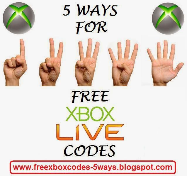 free xbox live redeem codes 2017