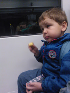 Big Boy eating a Mr Kipling Cake Slice