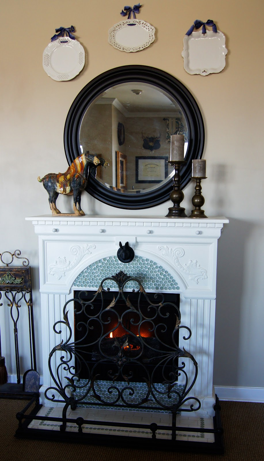 A French Country Fireplace So You Think You Re Crafty