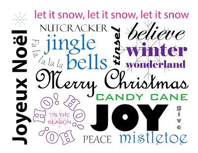 Free Printable Christmas Words