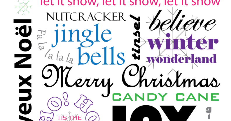 christmas words free printable