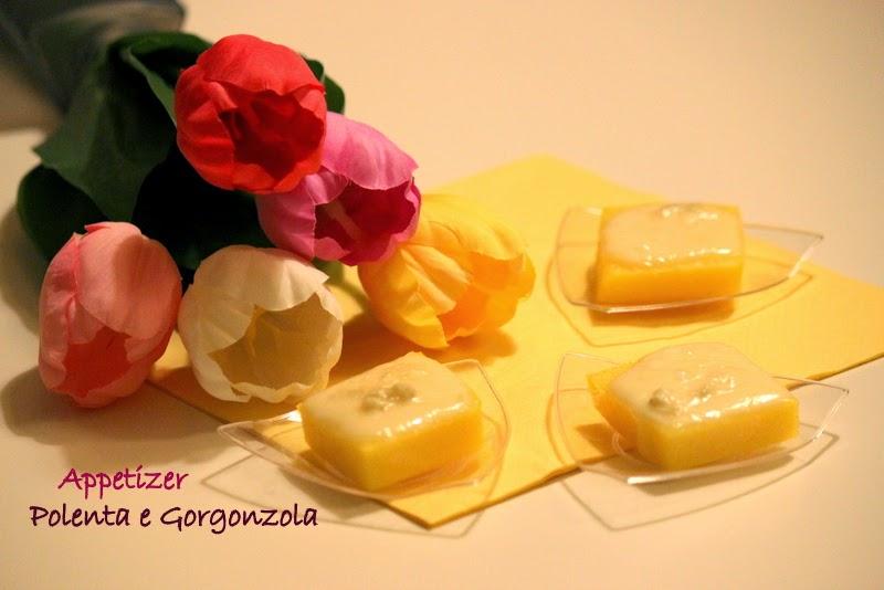 appetizer di polenta e gorgonzola