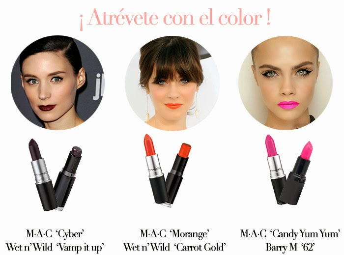 Labios con color
