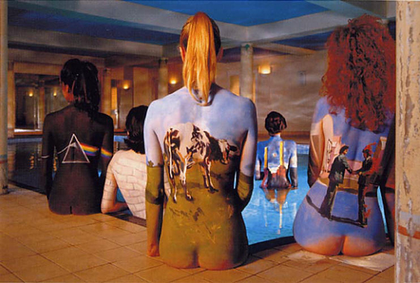 Toma alternativa de la foto promocional del Pink Floyd back catalogue con seis chicas