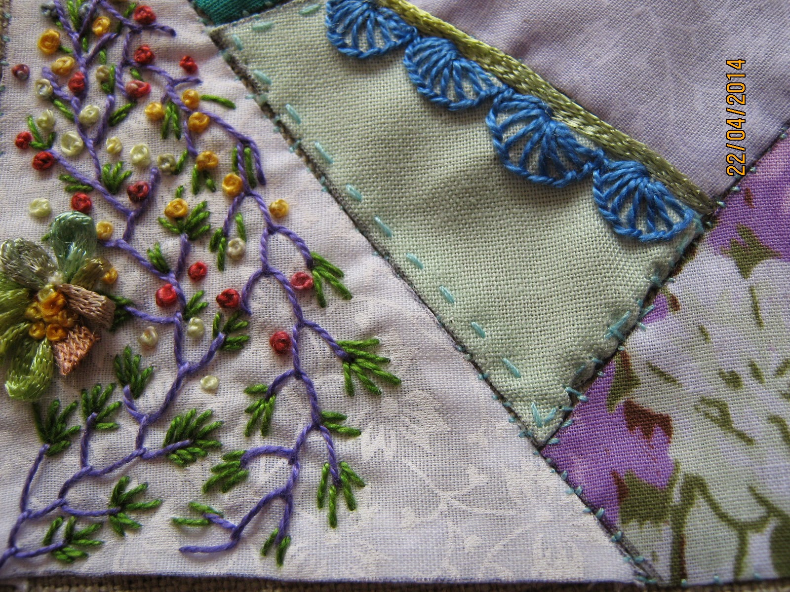 Ellas Craft Creations A Block Of Crazy Stitching And A Fabulous