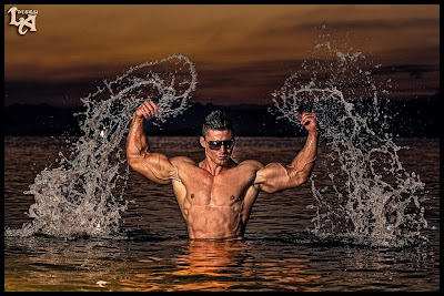 Fitness Models Six Pack Abs and Butt Exercise Mattia Vecchi