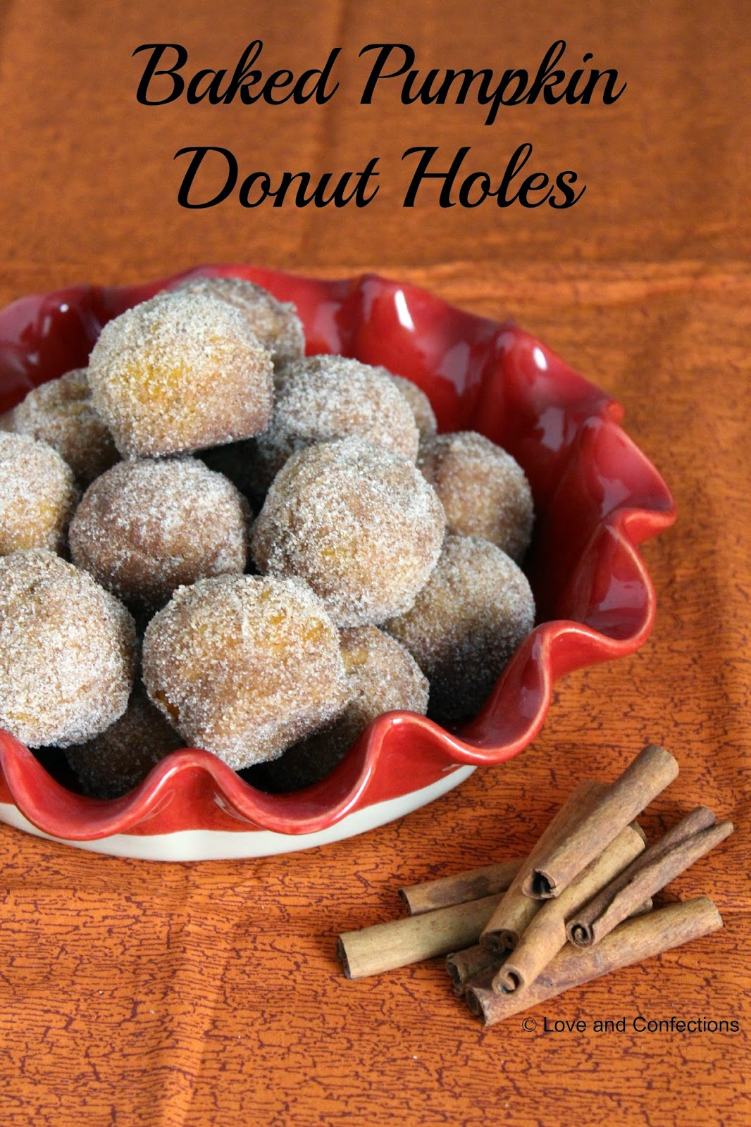 Love and Confections: Baked Pumpkin Donut Holes #PumpkinWeek